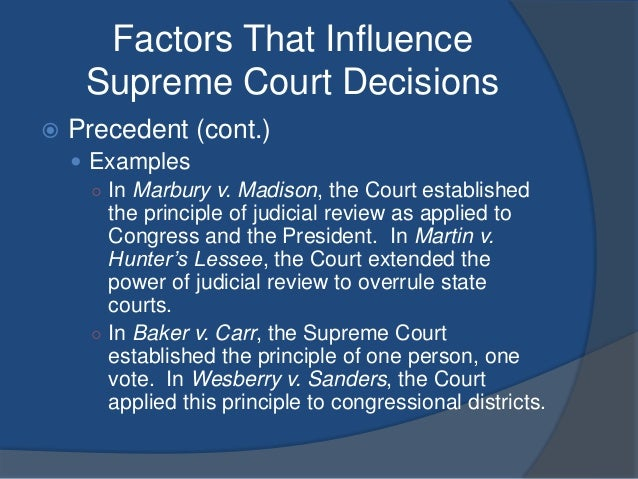 the legal precedent for judicial review was established when