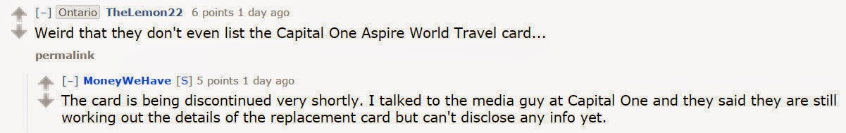 capital one aspire travel world mastercard review