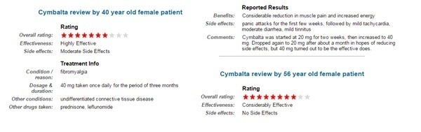 cymbalta reviews for general anxiety disorder